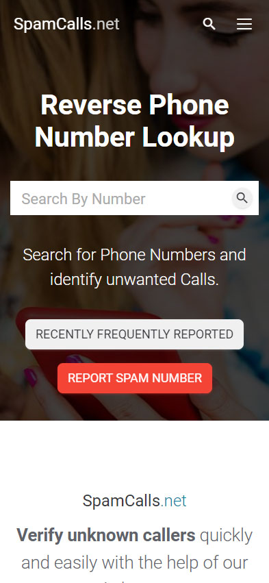 SpamCalls.net - Report and identify unknown callers or spam calls.